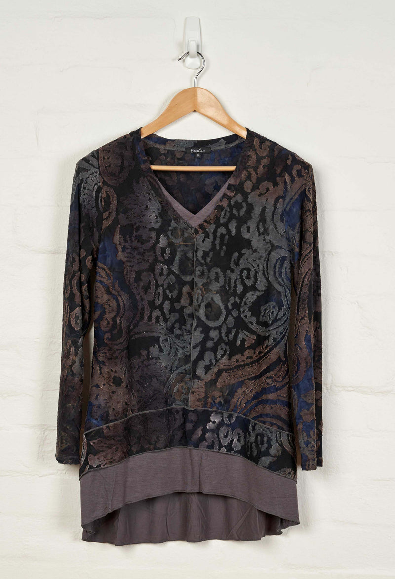 B1548 L/S Double V Neck Tunic -  - Tunic - BERLIN - The Rarity Group