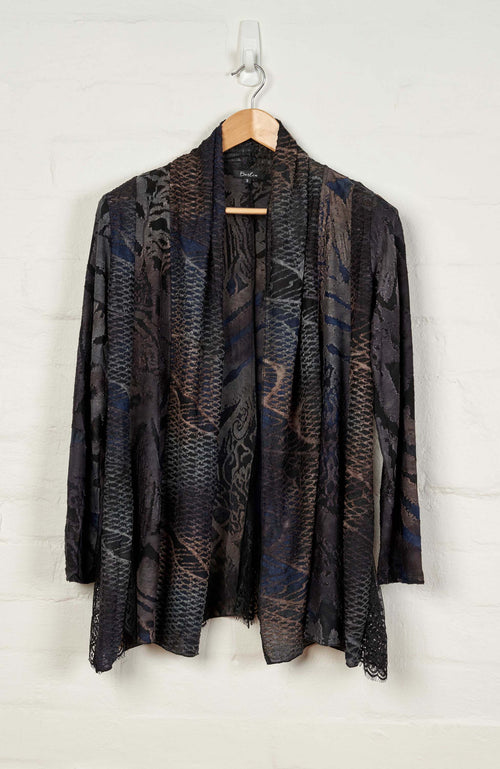 B1550 L/S Drape Cardigan -  - Cardigan - BERLIN - The Rarity Group