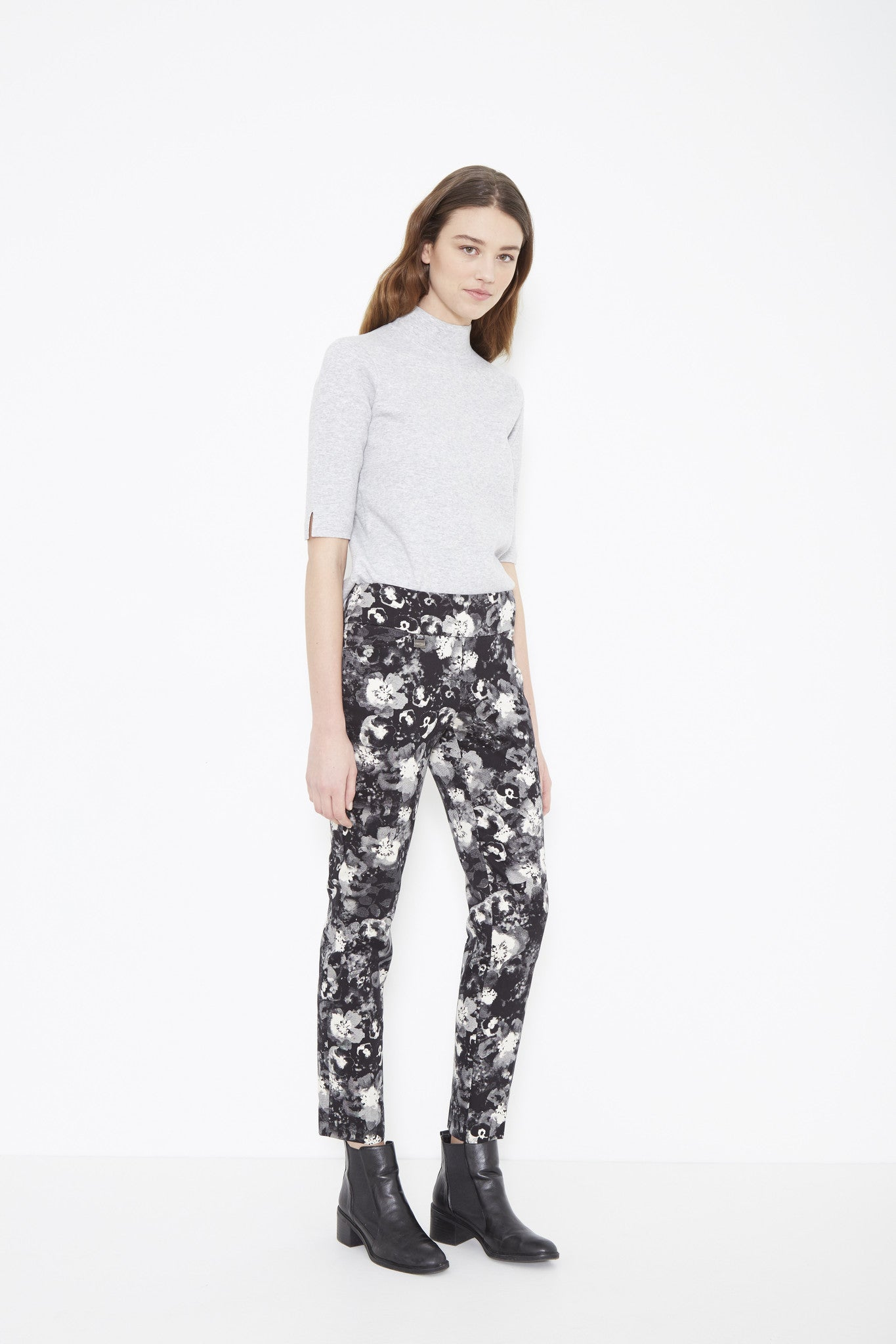20729 Slim PANSY PRINT DENIM - The Rarity Group