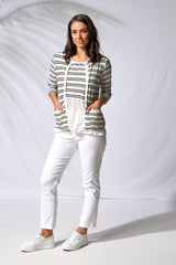 B807 Striped Cardigan