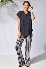 37288 Wide Trouser MARINA STRIPE