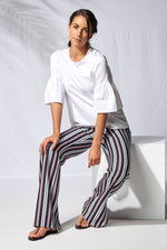 37288 Wide Trouser MARINA STRIPE -  - Pants - Lisette L Montreal Australia - The Rarity Group