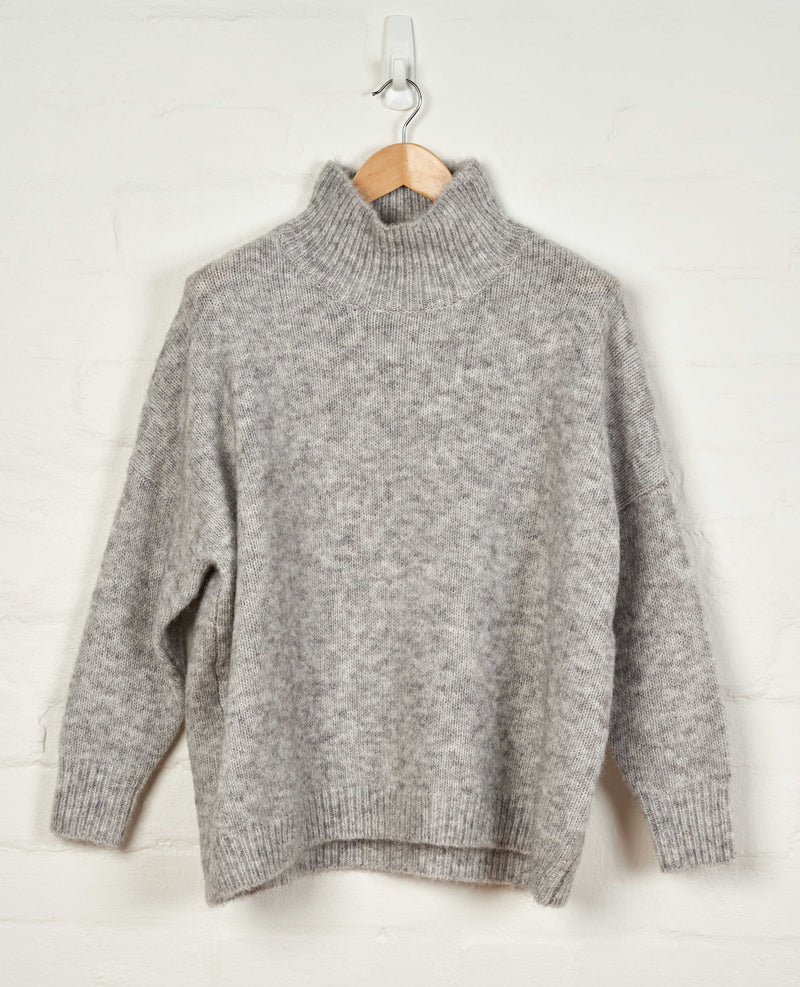 D217 Oversized Turtle Neck Jumper -  - Jumper - BERLIN - The Rarity Group