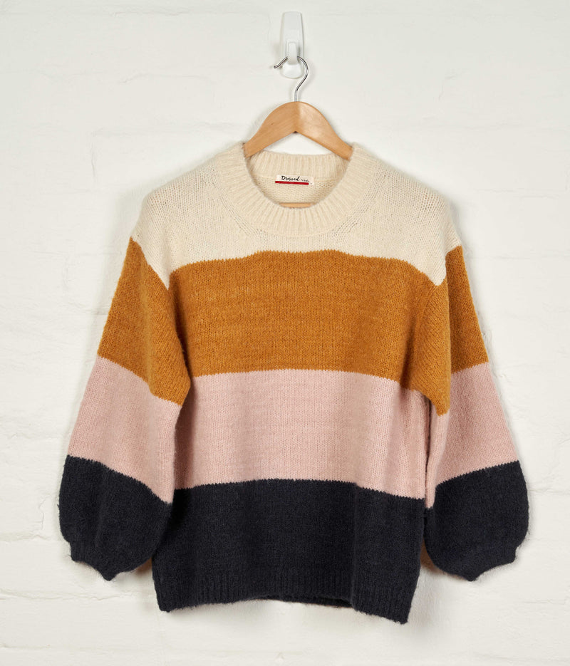 D210 Oversized Color Block Jumper -  - Jumper - BERLIN - The Rarity Group