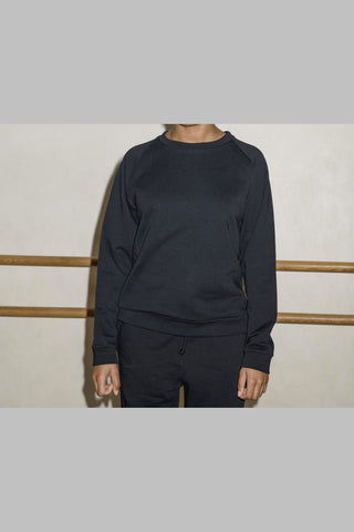 Basic Sweat Jumper, Black
