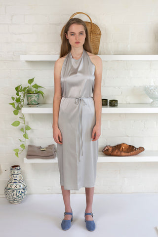 Apron Dress Silk Satin