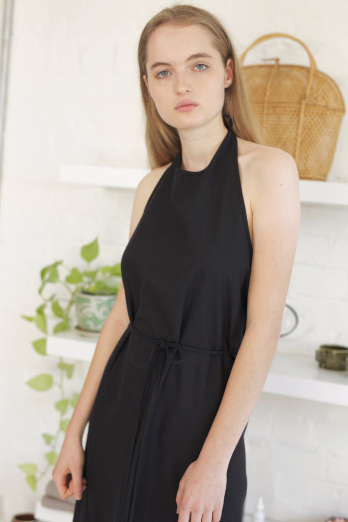 Apron Dress Raw Silk