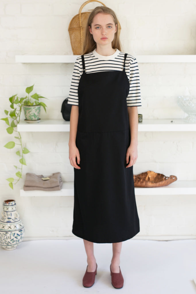 Overall Dress, Black