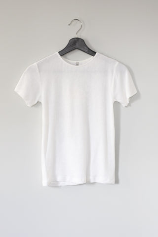 Omo Tee, White Velour