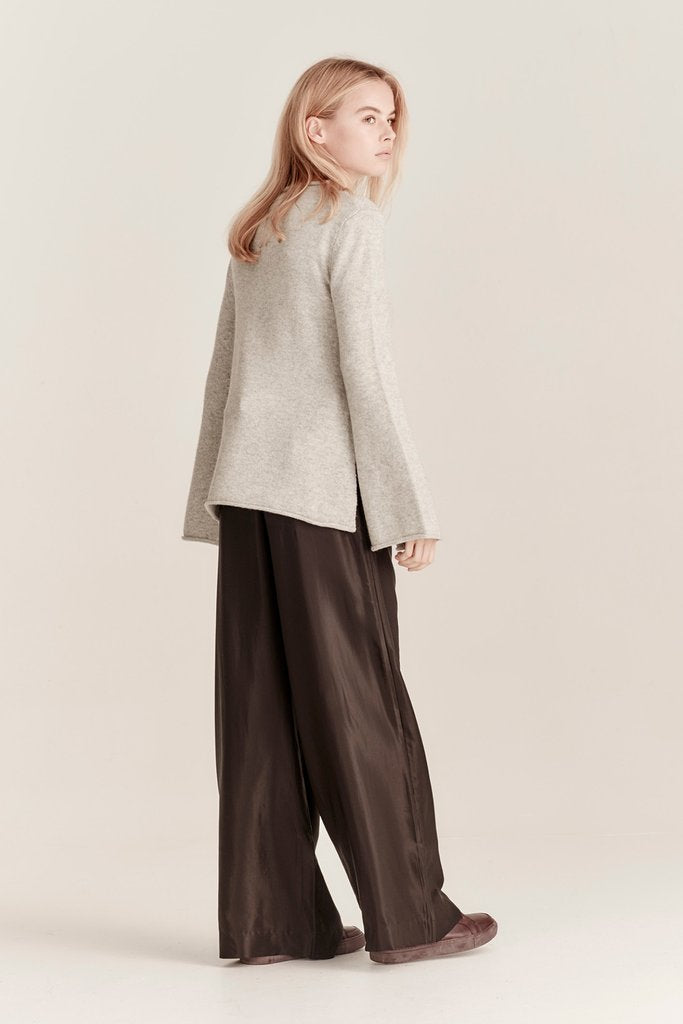 MACK JUMPER, GREY MELANGE