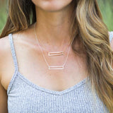 RECTANGLE OUTLINE NECKLACE