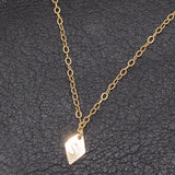 MINI GOLD DIAMOND INITIAL NECKLACE (PERSONALIZE)