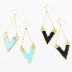 ARROW 'V' STATEMENT EARRINGS