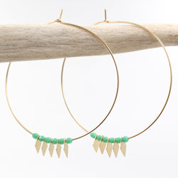 NATIVE HOOP EARRINGS