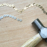 CIRCLE DISC INITIAL NECKLACE (PERSONALIZE)