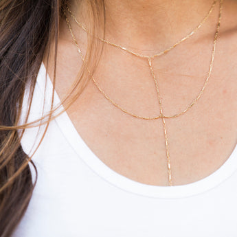 LAYERED LARIAT NECKLACE