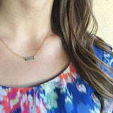 ITTY BITTY BAR NECKLACE (PERSONALIZE)