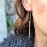 THREADER SPIKE EARRINGS