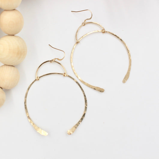WISHBONE HOOP EARRINGS
