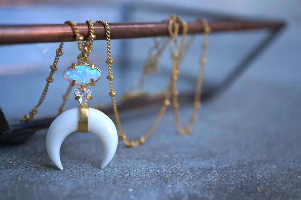 'WINTER MOON' NECKLACE