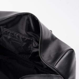 Black Leather Davos Duffle Bag by TSOG Bags The Science of Genius