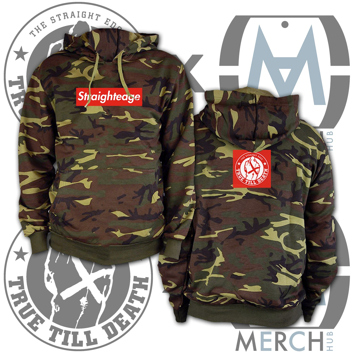 """Don't Forget the Streets"" Camo Pullover Hoodie"