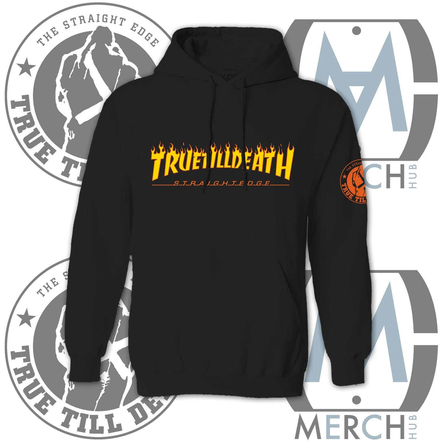 """Straight and Destroy"" Pullover Hoodie"