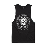 vegan singlet about health, helping animals and the environment.