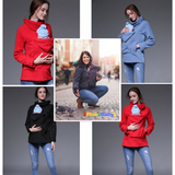 2 Plus 1 Baby Kangaroo Carrier Maternity Hoodie Jacket Coat For Mothers of Infants and Toddlers