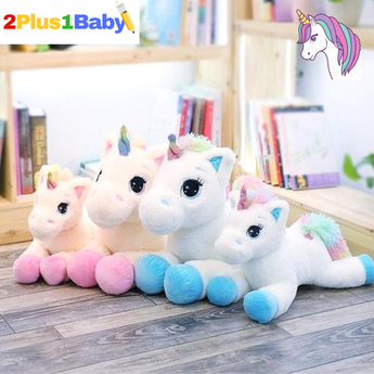 Uni 1 Large Plush Stuffed Unicorn - 2 Plus 1 Baby