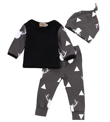 Newborn Infant Camouflage Outfit Set T-shirt and Pants