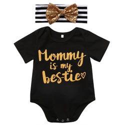 Mommy is My Bestie 2pc Baby Romper Set