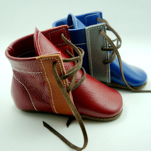 Handmade Genuine Leather First Walkers Boots