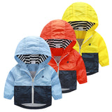 Kids Toddler Hooded Windbreaker Jacket Coat - 2 Plus 1 Baby