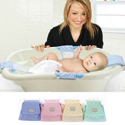 Newborn Infant Baby Bath Tub Seat Adjustable Net Baby BathTub Bed Rings Infant Cross Bath Bed Safety Support Baby Shower Bed  4