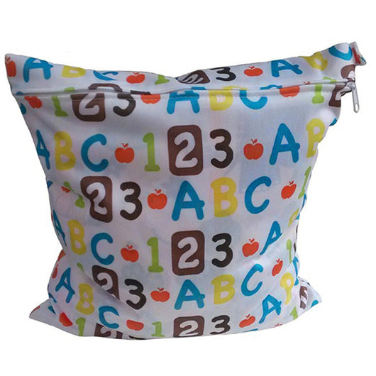 P2 Waterproof Cloth Printed Diaper Bag - 2 Plus 1 Baby