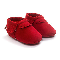 Suede Leather Infant Moccasins