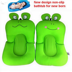 frog design Foldable Baby bath tub, BATHTUB pad & chair & shelf newborn baby bath seat infant bathtub support blooming bath mat