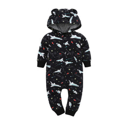 Flannel and Fleece Winter Rompers Hoodies - 2 Plus 1 Baby