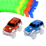 Expandable Glowing Car Racing Set for Kids