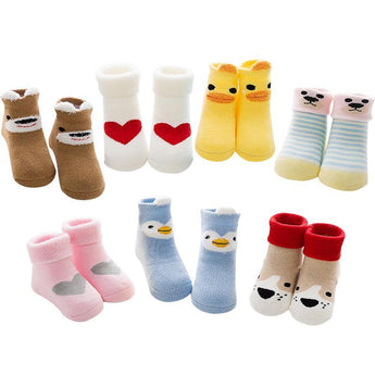 2 Plus 1 Baby Animal Love Cartoon Socks - 2 Plus 1 Baby