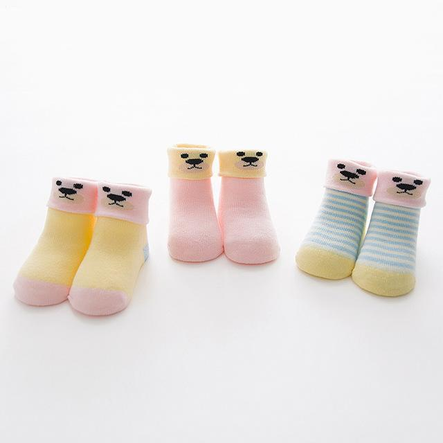 2 Plus 1 Baby Animal Love Cartoon Socks