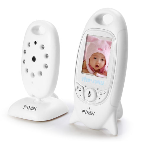 Night Vision Wireless Infant Baby Digital Video Monitor Camera with Audio Music Temperature Display