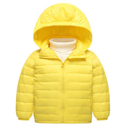 2 Plus 1 Baby Kids Solid Colors Thick Down Jacket Coat - 2 Plus 1 Baby