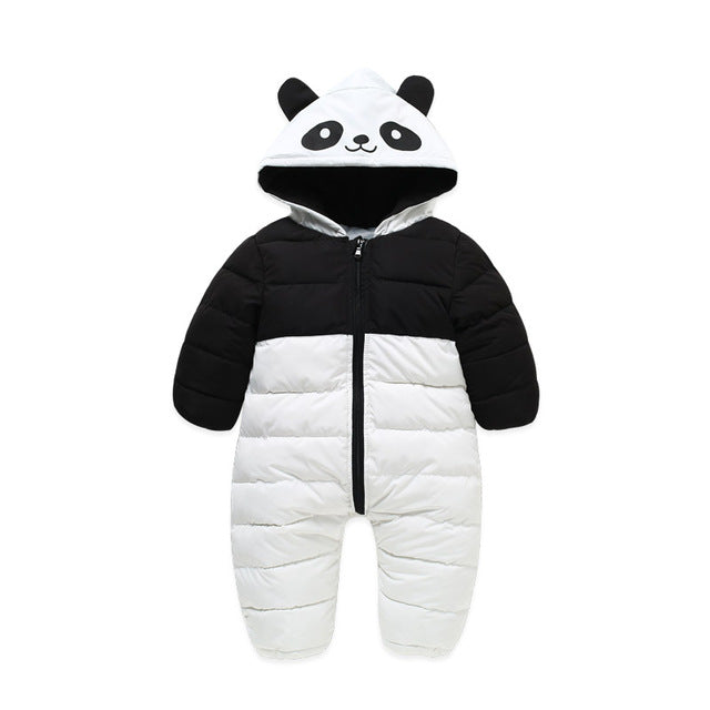 Panda Down Cotton Overalls Jumpsuit