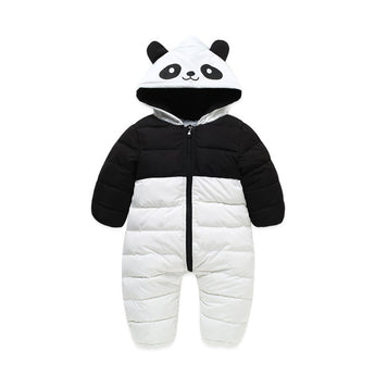 Panda Down Cotton Overalls Jumpsuit - 2 Plus 1 Baby