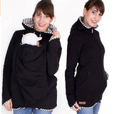 Multifunction Baby Carrier Jacket Coat Maternity Carrier Sweatshirts Outerwear - 2 Plus 1 Baby