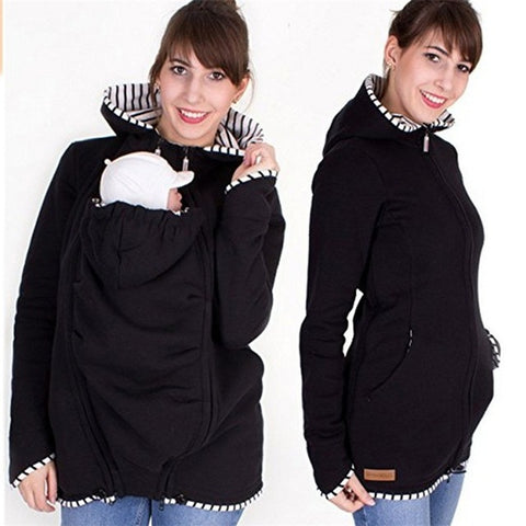 Multifunction Baby Carrier Jacket Coat Maternity Carrier Sweatshirts Outerwear