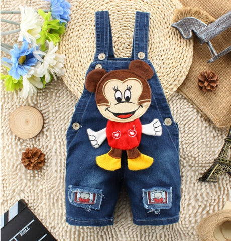 Denim Jeans One-piece Bear Playsuits