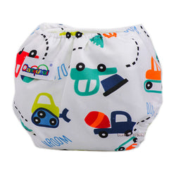Reusable Baby Infant Cloth Diapers (Cartoon Design) - 2 Plus 1 Baby